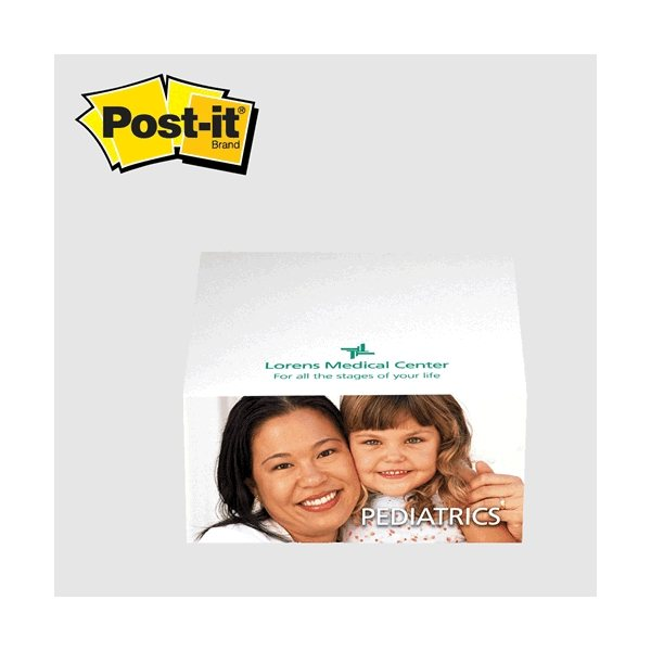 Promotional Post - it(R) Custom Printed Notes Half - Cube