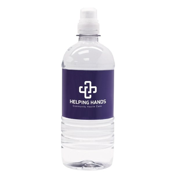 Promotional 20 oz - Bottled 100 spring water with sport cap