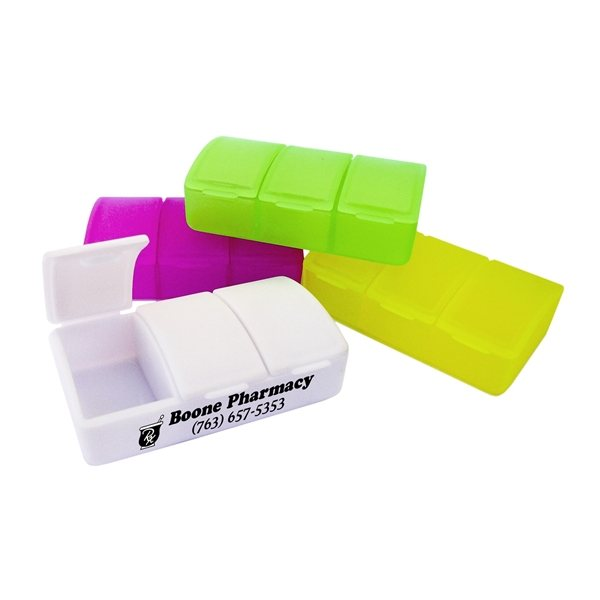 Promotional Three Compartment Pill Box