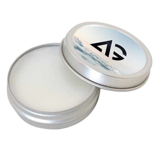 Promotional SPF 15 Push - On Tin Lip Balm