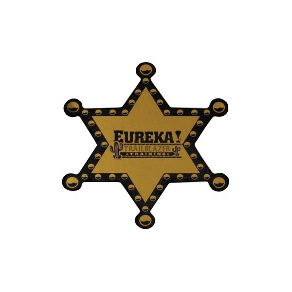 Promotional 3 Sheriff Badge Stock Chipboard