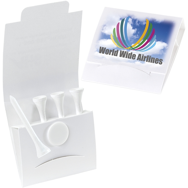 Promotional 4-1 Golf Tee Packet - Value Pak