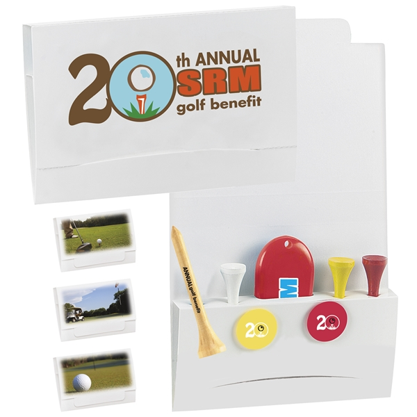 Promotional 4-2-1 Golf Tee Packet - 3-1/4 Tee