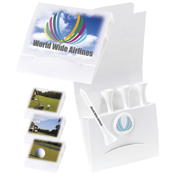 Promotional 4-1 Golf Tee Packet - 2-1/8 Tee