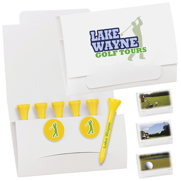 Promotional 6-2 Golf Tee Packet - 2-1/8 Tee