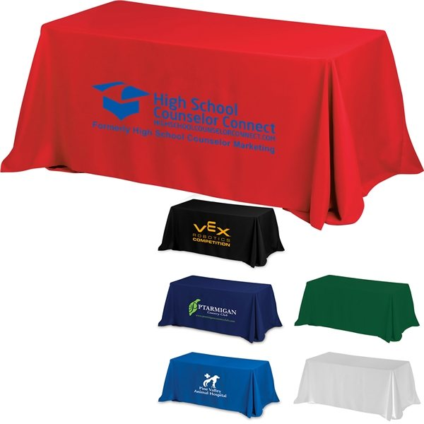 Promotional 6 4- Sided Throw Style Table Covers Table Throws