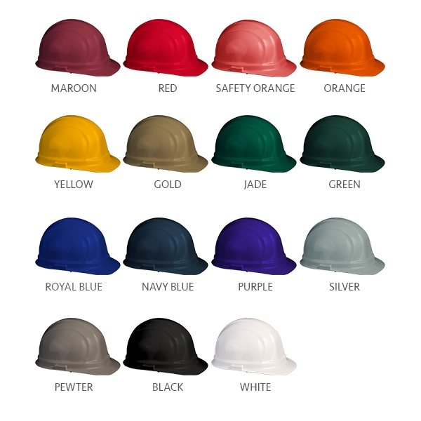 Promotional Pad Press Imprint Hard Hat - Hard Hat