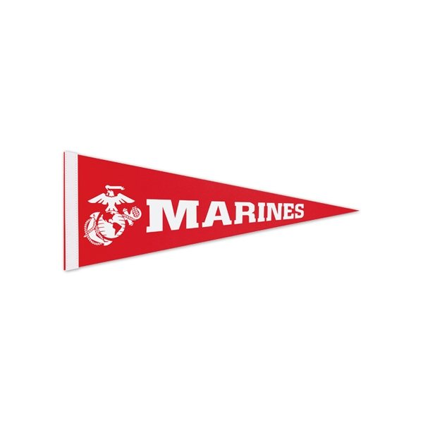 Promotional 1 Sewn Strip Colored Pennant - 12 X 30