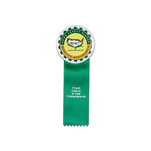 Promotional Ribbon For Buttons - 2 X 6 Ribbon