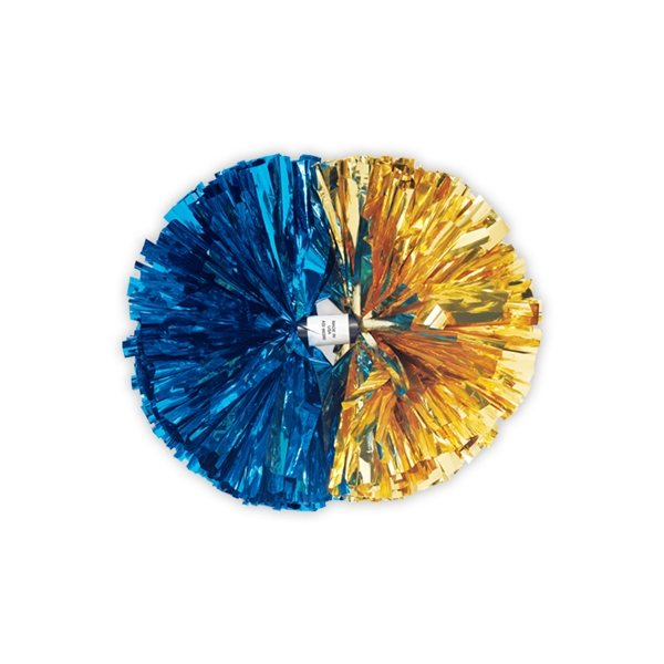 Promotional 2- Color Contrasting Ends Metallic Show Pom - 5