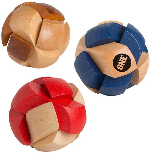 Custom Wooden Soccer Ball Puzzle Logo Imprinted Toys