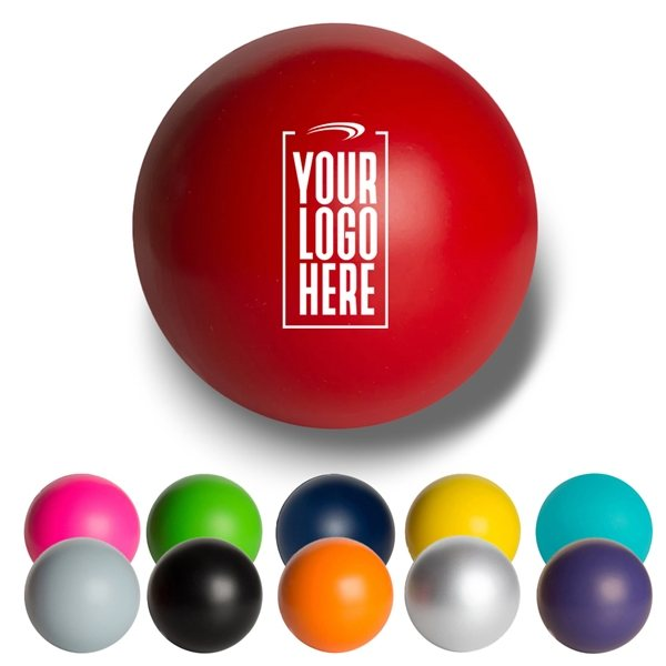 Promotional Solid Color Round Stress Ball