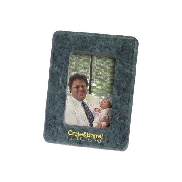 Promotional Marble 3 1/2 x 5 Photo Frame with Easel Back