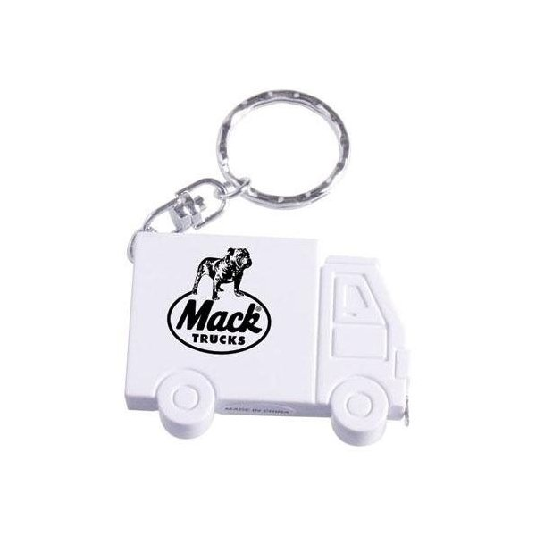 Promotional Truck - Shaped Tape Measure Keychain
