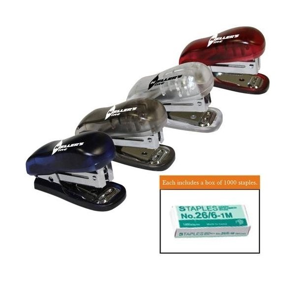 Promotional Translucent Stapler with Staple Remover and Staples