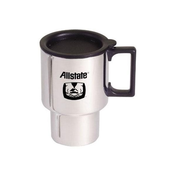 Promotional Chrome Finish Stainless Steel Commuter Mug