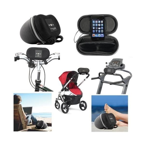 Promotional iPod, MP3 Player Amplified Stereo Speaker for Bike, Stroller Beach