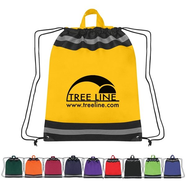 455036a3d9 Large Non-Woven Reflective Hit Sports Pack - Customized Drawstring Bags