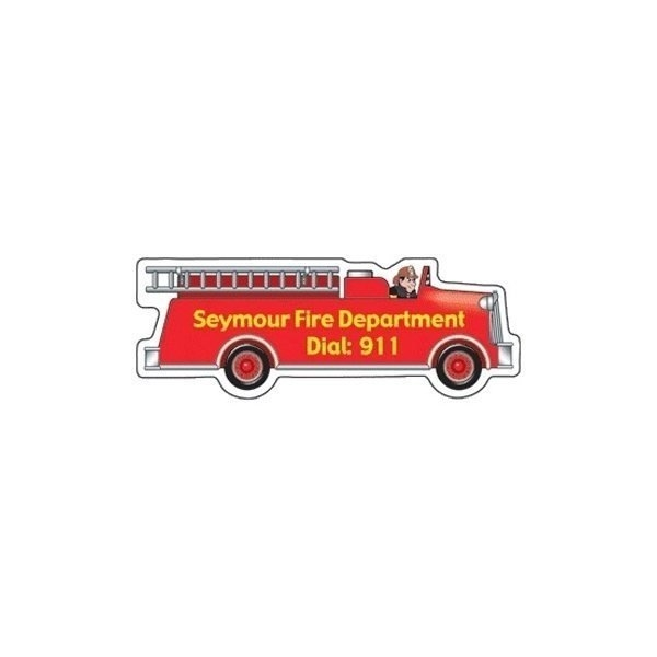 Promotional Fire Truck - Die Cut Magnets