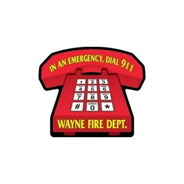 Promotional Telephone (large) - Die Cut Magnets
