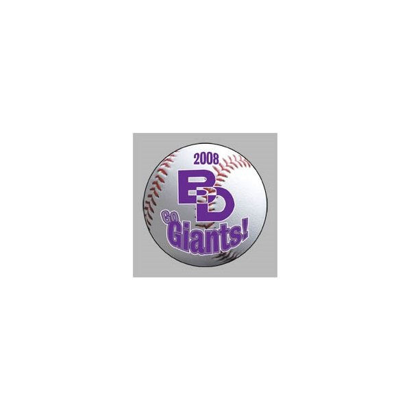Promotional Baseball - Die Cut Magnets