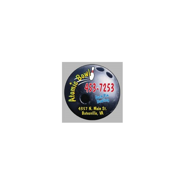 Promotional Bowling Ball - Die Cut Magnets