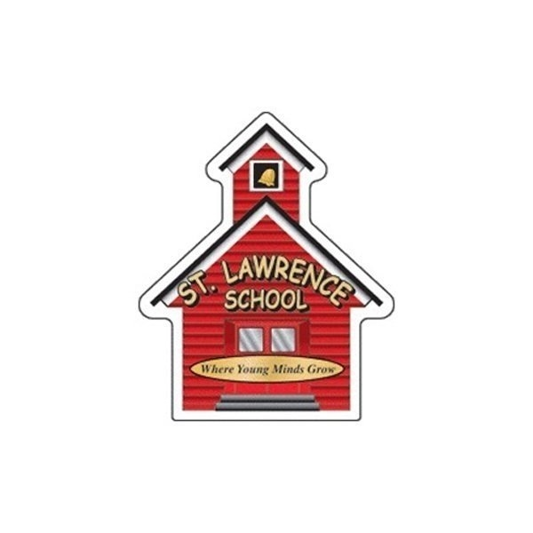Promotional Schoolhouse - Die Cut Magnets