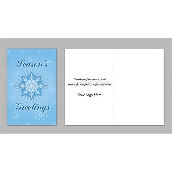 Promotional Seasons Greetings / Snowflakes - Executive Greeting Cards with Magnets