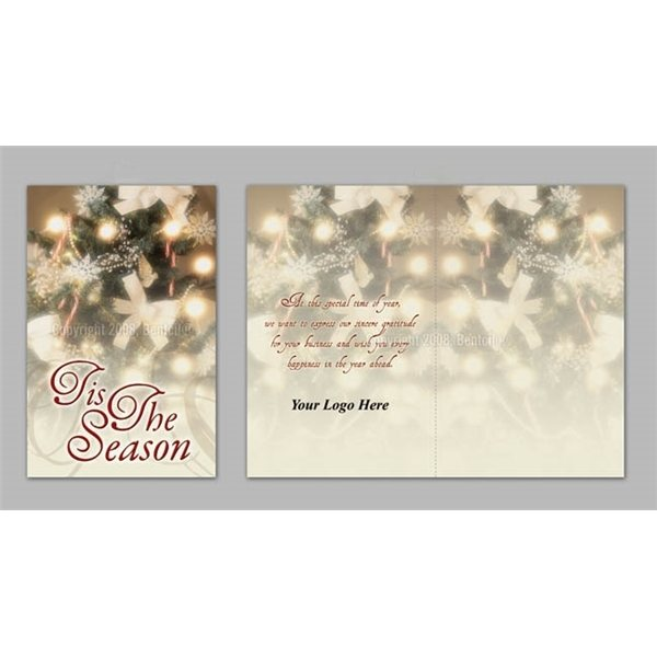 Promotional Tis the Season / Tree - Executive Greeting Cards with Magnets