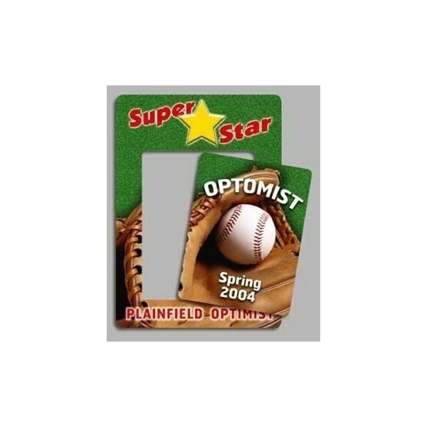 Promotional Baseball - Picture Frame Magnets