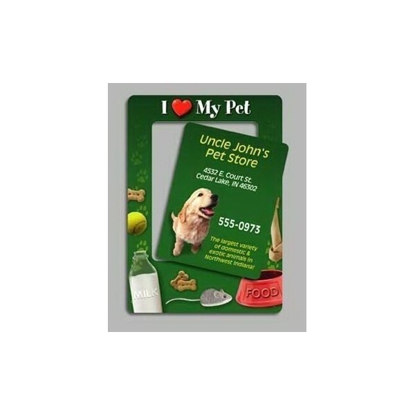 Promotional I Love My Pet - Picture Frame Magnets