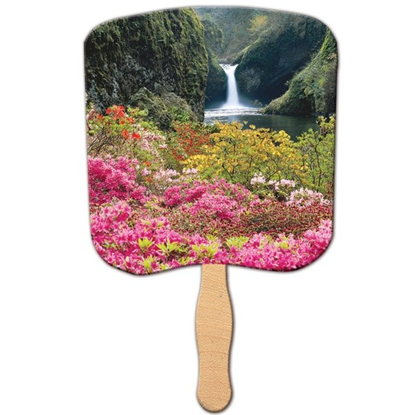 Promotional Flower Garden Religious Stock Fan - Paper Products