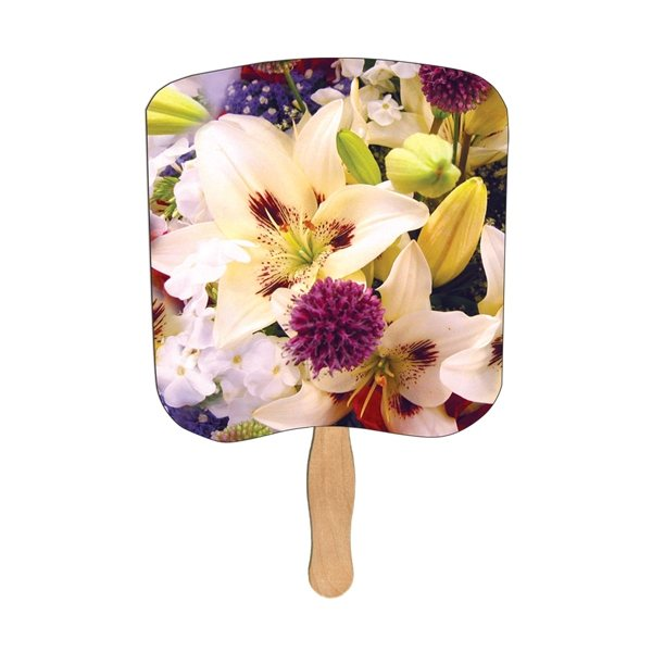 Promotional Lilly Bouquet Religious Stock Fan - Paper Products