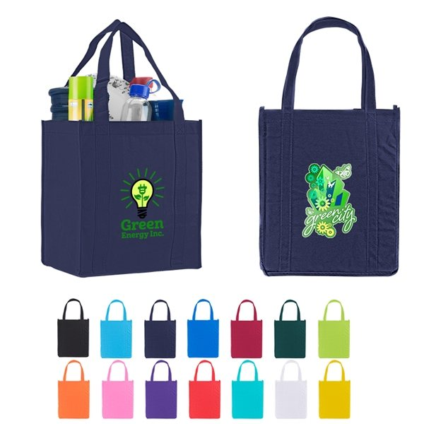 b434dc161 Promotional Custom Atlas Non Woven Grocery Tote Bag - 12 X 13. Click here  to zoom in ...