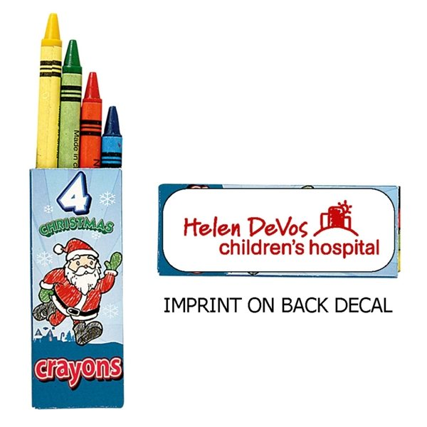 Promotional Holiday Crayon (4CP) - 4pk