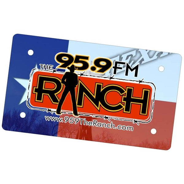 Promotional 7 x 4 Mini Promotional License plate / Car Tag - Digitally Printed