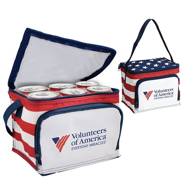 Promotional America Stars N Stripes 6 Pack Cooler