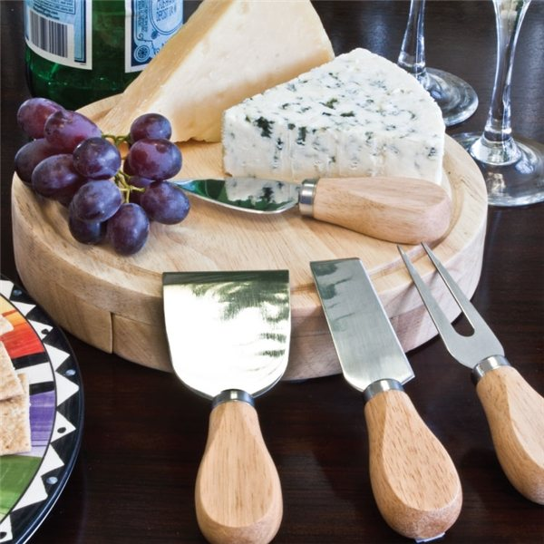 Promotional Gourmet 5 PC Cheese Set / Cutting Board