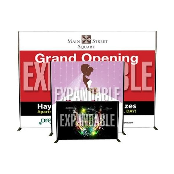 Promotional Banner with Expandable Stand