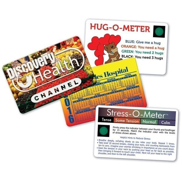 Promotional Usa Deluxe Stress - o - meter Card