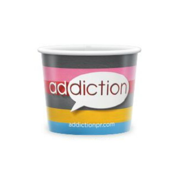 Promotional Paper COLD Containers,8 oz