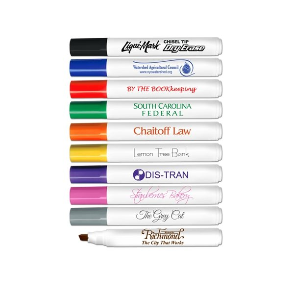 Promotional Low Odor Chisel Tip Dry Erase Markers - USA Made