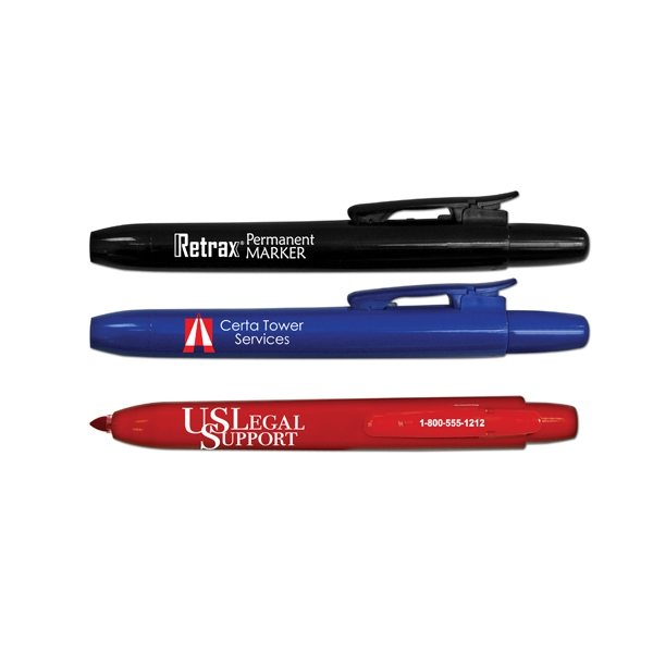 Promotional Retrax(R) Retractable Permanent Markers