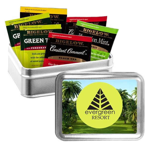 Promotional Large Tin Box with Assorted Tea Bags