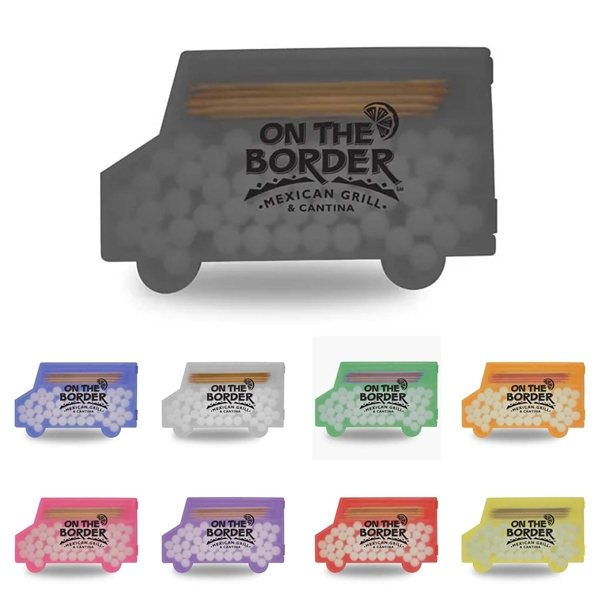 Promotional Delivery Truck Shaped Pick n Mints