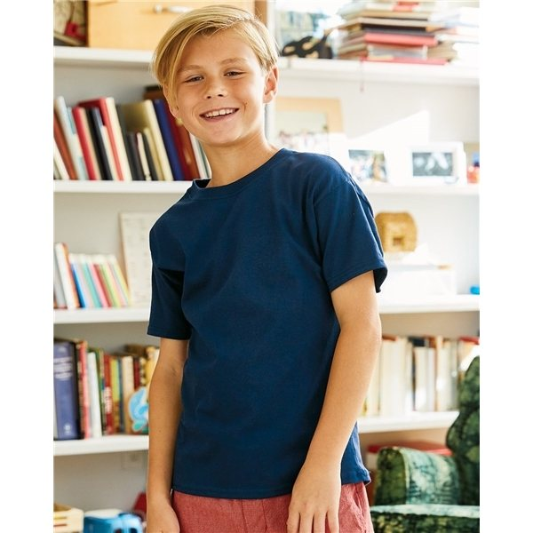 Promotional Hanes - Youth ComfortSoft(R) Heavyweight T - Shirt - 5480