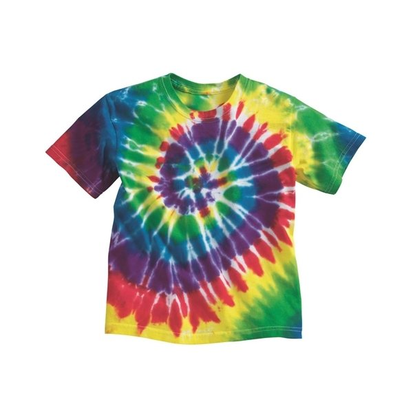 Promotional Tie - Dyed - Youth Multicolor Spiral T - Shirt
