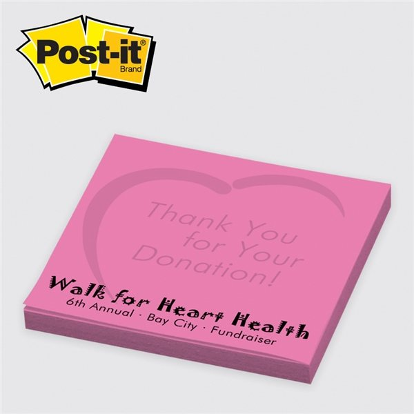 Promotional Neon / Ultra Post - it(R) Custom Printed Notes 3 x 3, 25 sheets