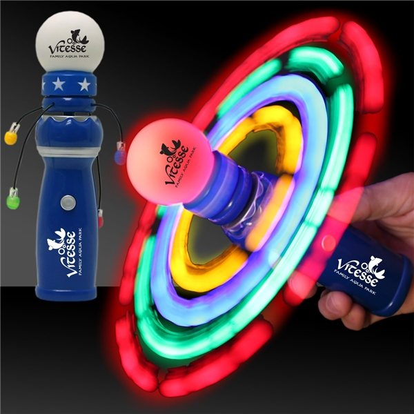 Promotional LED Galaxy Spinner Wand - 8