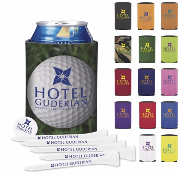 Promotional Collapsible KOOZIE Golf Tee Kit
